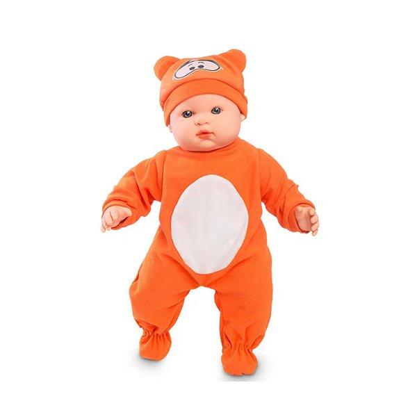 Boneca Bebê Tigrão Com Certidão de Nascimento e Gorrinho