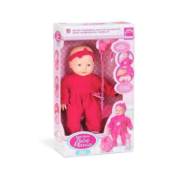 Boneca Roma Bebê Mini Mania de Xixi