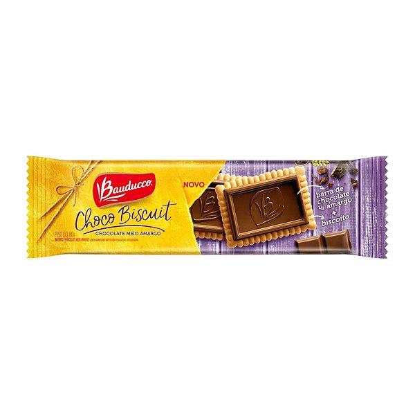 Biscoito Choco Biscuit Bauducco Meio Amargo 80g