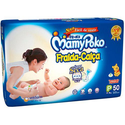 Fralda Descartável Mamypoko Fralda-Calça P 50 unidades