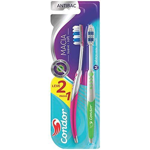 Escova de Dentes Condor Antibac Leve 2 Pague 1 8056-0
