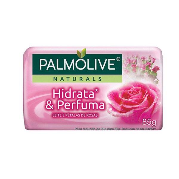 Sabonete Palmolive Naturals Hidrata & Perfuma Leite e Pérolas de Rosas 85g