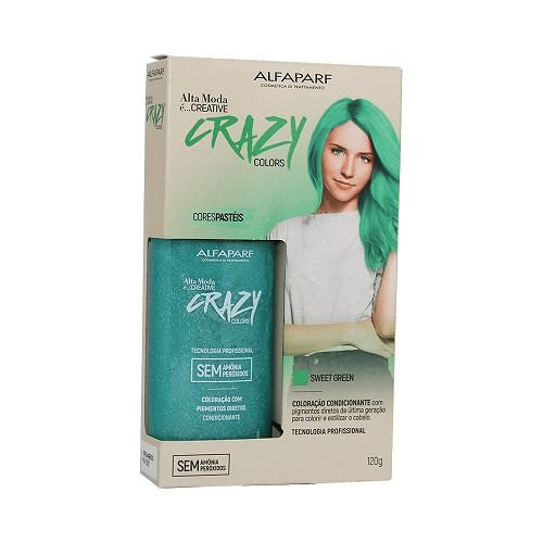 Coloração Alta Moda Crazy Colors Sweet Green 120g
