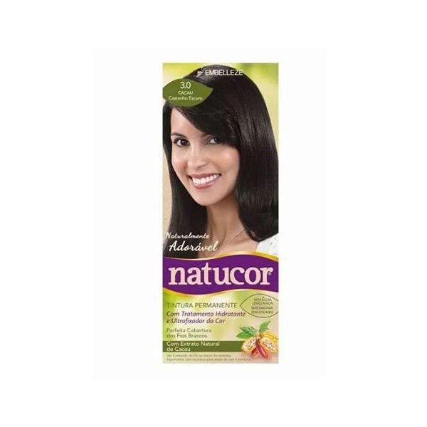 Coloração Natucor 3.0 Cacau Castanho Escuro