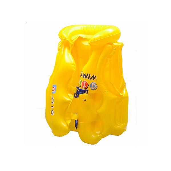 Colete Inflável Mor Infantil Premium Amarelo