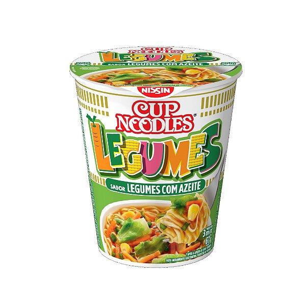Cup Noodles Nissin Legumes Com Azeite 67g