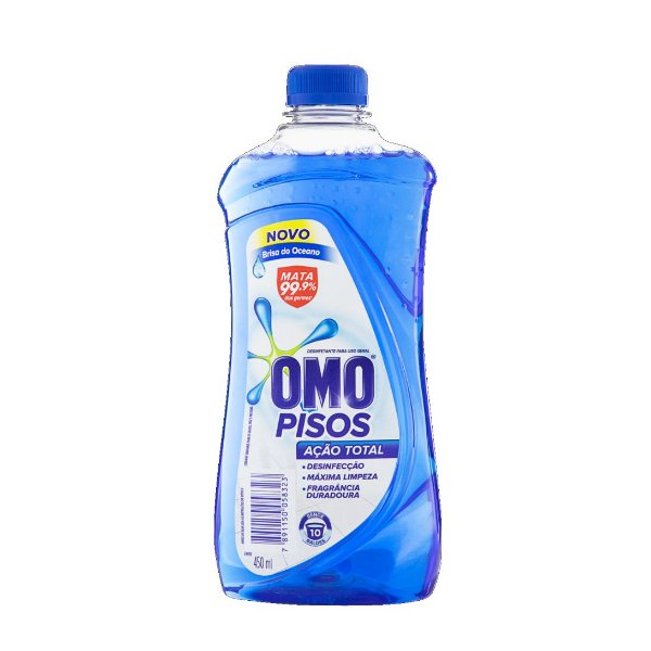 Limpador de Pisos Omo Ação Total Brisa do Oceano 450ml