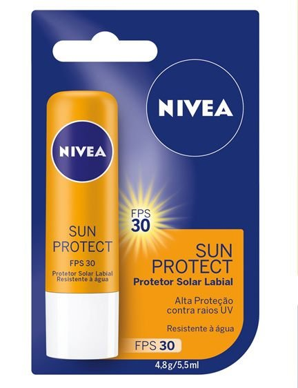 Protetor Solar Labial Nivea Sun Protect FPS30 4,8g