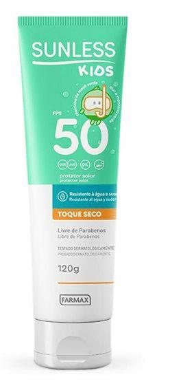 Protetor Solar Sunless Kids Toque Seco FPS50 120g