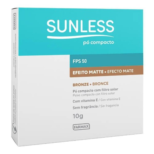 Pó Compacto Sunless Efeito Matte Bronze FPS50 10g