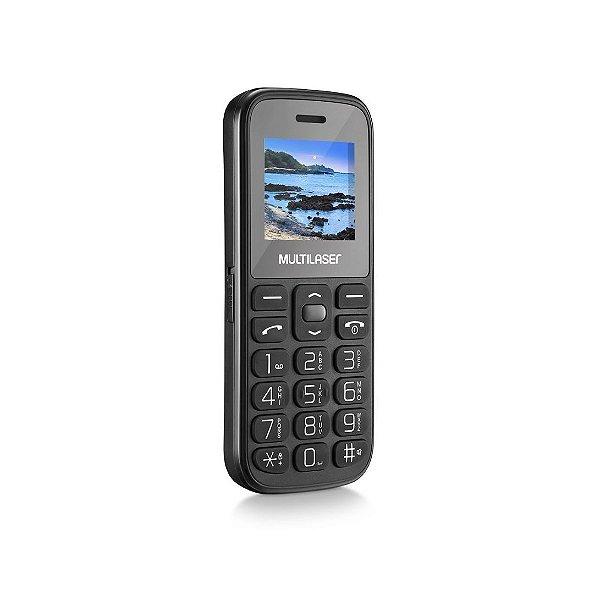 Celular Multilaser P9120 Vita 4, 2 Chips, Câmera, MP3, Rádio FM e Bluetooth, Preto
