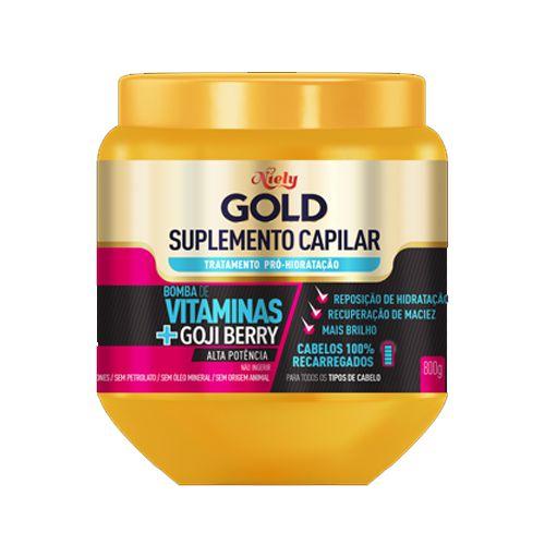 Creme de Tratamento Niely Gold Vitaminas + Gojiberry Suplemento Capilar 800g