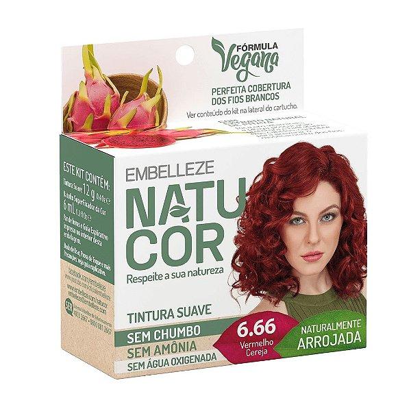 Coloração Natucor 6.66 Vermelho Cereja
