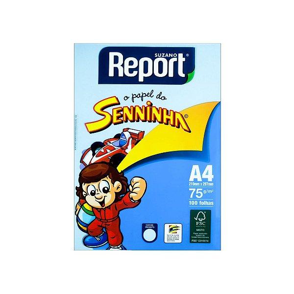 Papel Sulfite Report Senninha A4 C/100 Folhas Azul