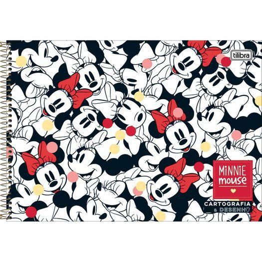 Caderno Cartografia e Desenho Capa Dura Espiral Tilibra Minnie Mouse C/80 Folhas