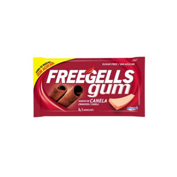 Chiclete Freegells Gum Canela 8g