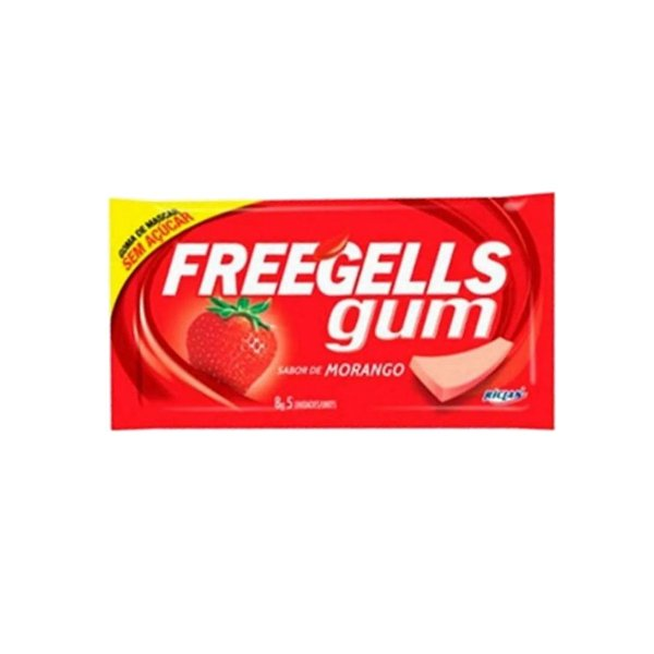 Chiclete Freegells Gum Morango 8g
