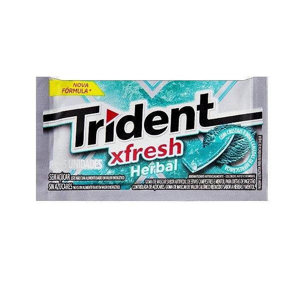 Chiclete Trident Xfresh Herbal 8g