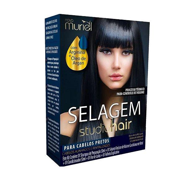 Kit Selagem Muriel Studio Hair Para Cabelos Pretos