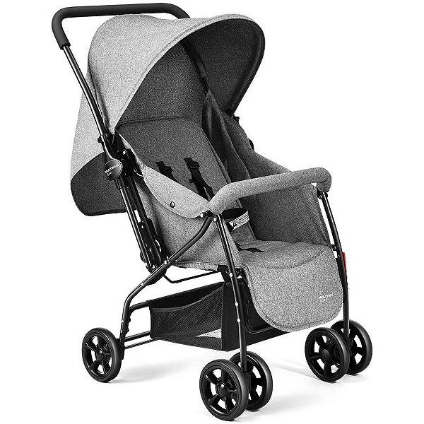 Carrinho de Bebê Multikids Baby Max Cinza