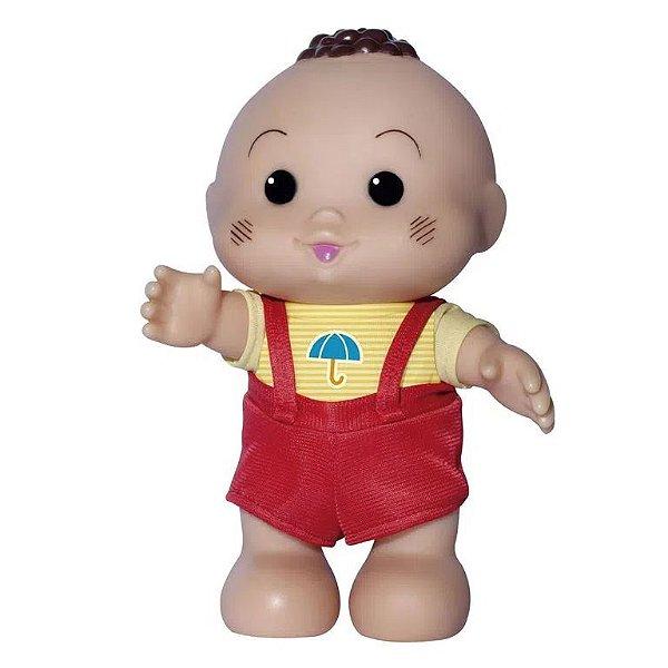 Boneco turma da Mônica Cascão Iti Malia Novabrink 23cm