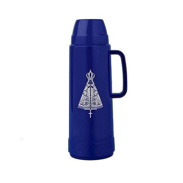 Garrafa Térmica Mor Use Mirtilo Nossa Senhora Azul 1L