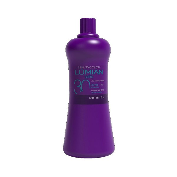 Água Oxigenada Cremosa Beautycolor Lúmian Safira 30 Volumes 1L