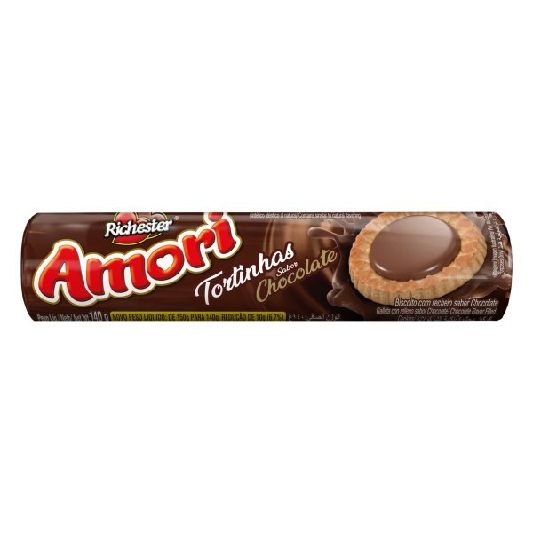 Biscoito Richester Amori Tortinhas Chocolate 140g