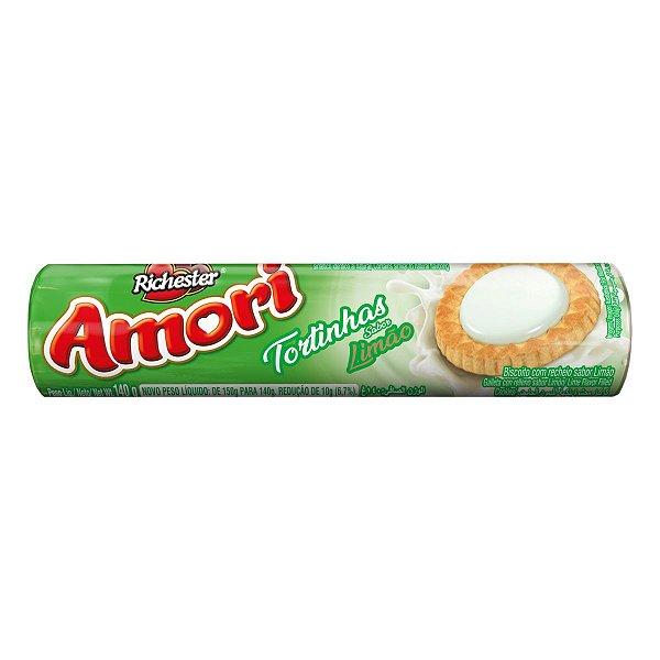 Biscoito Richester Amori Tortinhas Limão 140g