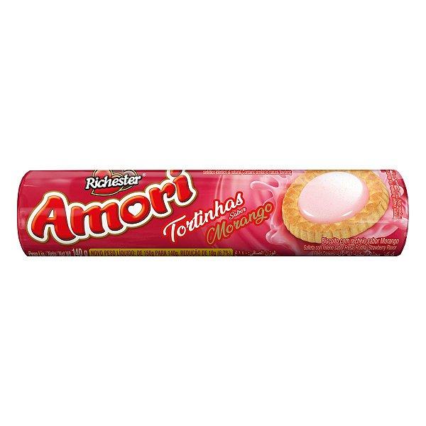 Biscoito Richester Amori Tortinhas Morango 140g