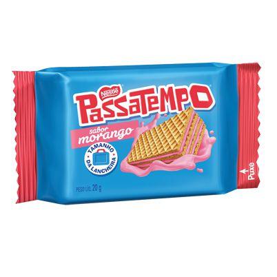 Biscoito Wafer Nestlé Passatempo Morango 20g