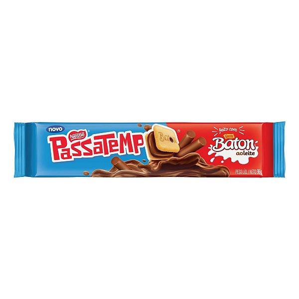Biscoito Nestlé Passatempo Baton Garoto ao Leite 96g