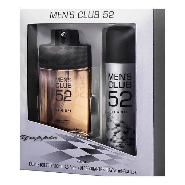 Kit Deo Colônia Men's Club 52 Original 100ml + Desodorante Spray 90g