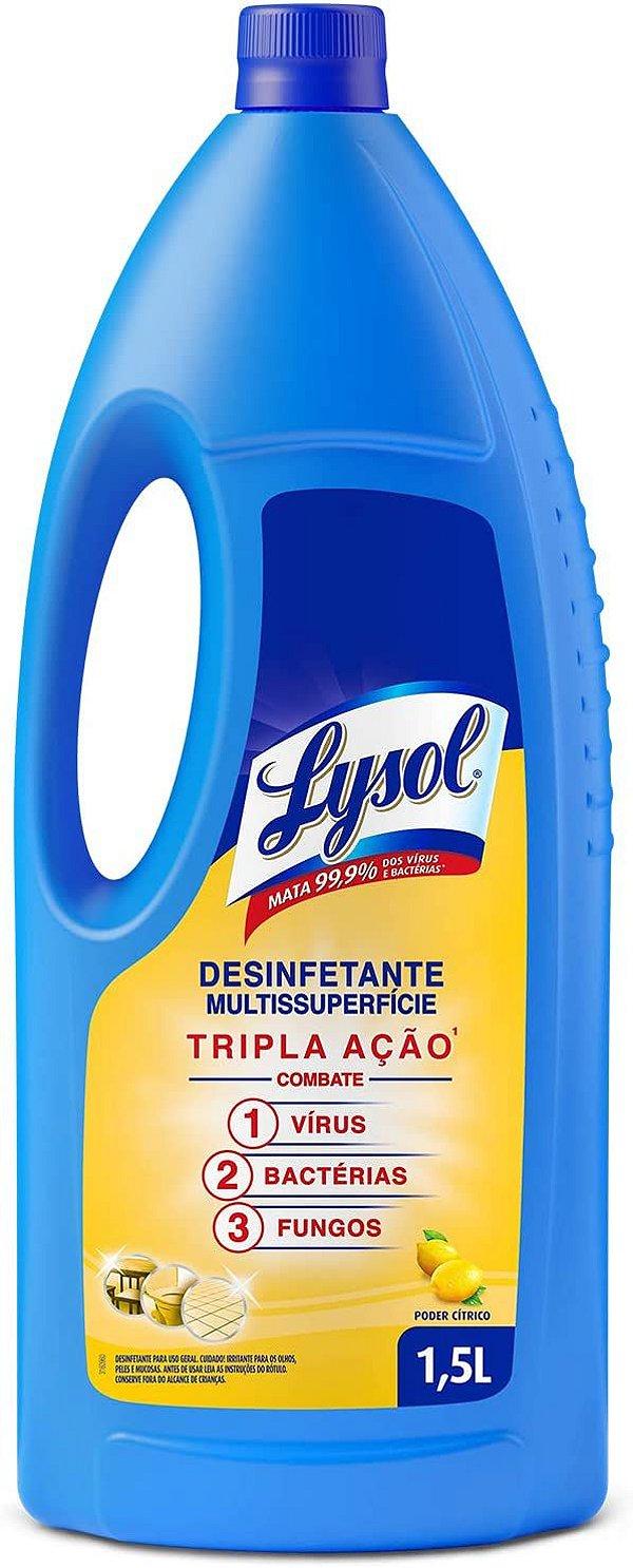 Desinfetante Líquido Lysol Poder Cítrico 1,5L