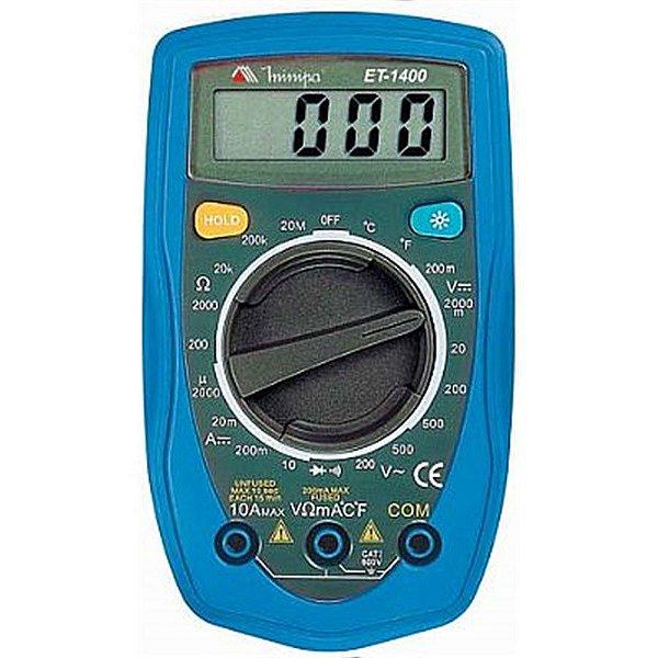 Multimetro Digital ET1400 Minipa
