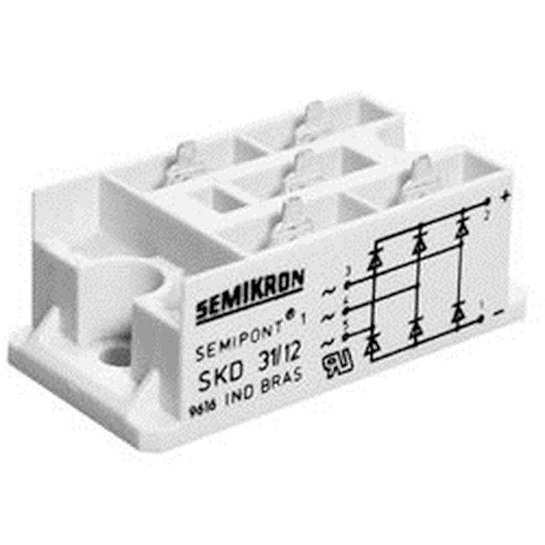Ponte Retificadora Trifasica 30 amper 400v Semikron SKD31/04 Código RDR-1038