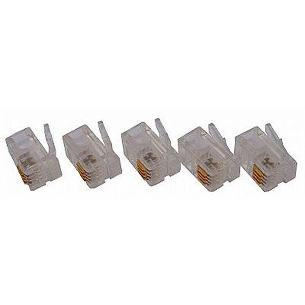 Conector para Telefone RJ 11 4 Via Código RJ11