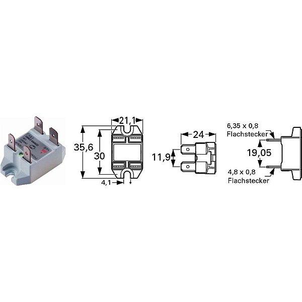 Rele de Estado Solido Mini 25 amper RF1A23M25