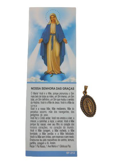 Medalha Nossa Senhora das Graças com Marcador de Página