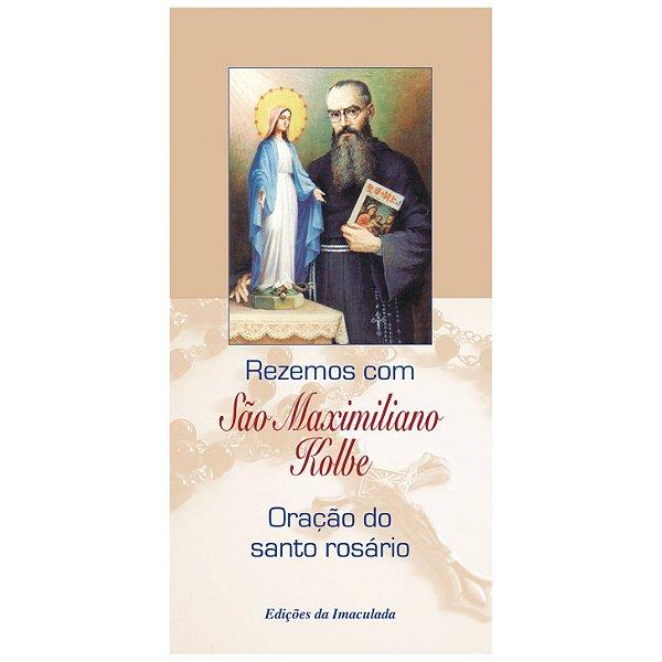 Folheto Rezemos com São Maximiliano Kolbe (com 10 unidades)
