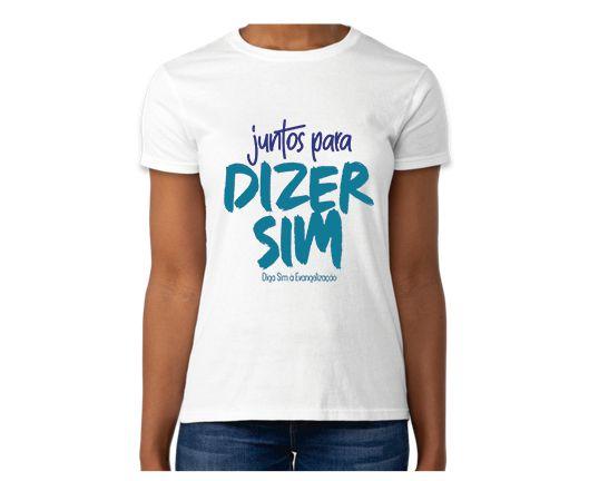 Camiseta Baby Look Diga Sim 2020