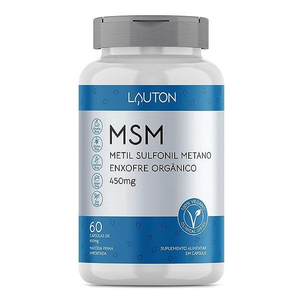MSM - Metil Sulfonil Metano - Pote com 60 cápsulas de 450mg