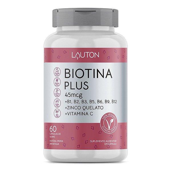 Biotina Plus - Pote com 60 capsulas de 45mcg