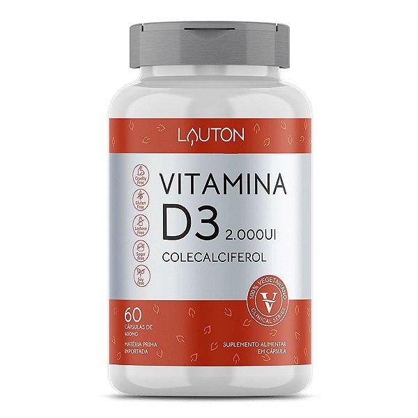 Vitamina D3 2000UI - Pote com 60 capsulas