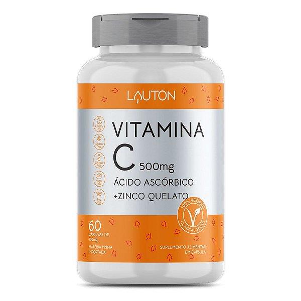 Vitamina C + Zinco - Pote com 60 capsulas de 500mg
