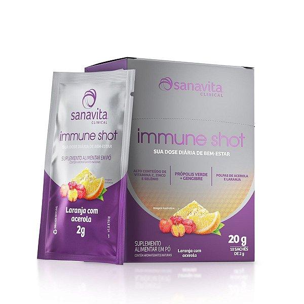 Immune Shot - Laranja com Acerola - Caixa com 10 sachês