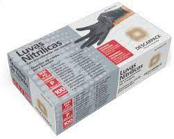 Luva Nitrílica Preta - Descarpack cx com 100 unidades tamanho P