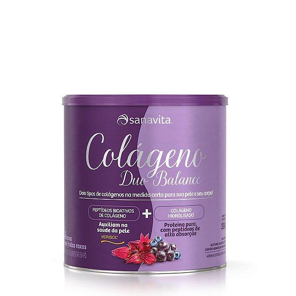 Colágeno Duo Balance - Hibiscos c/ frutas roxas - Lata 330G