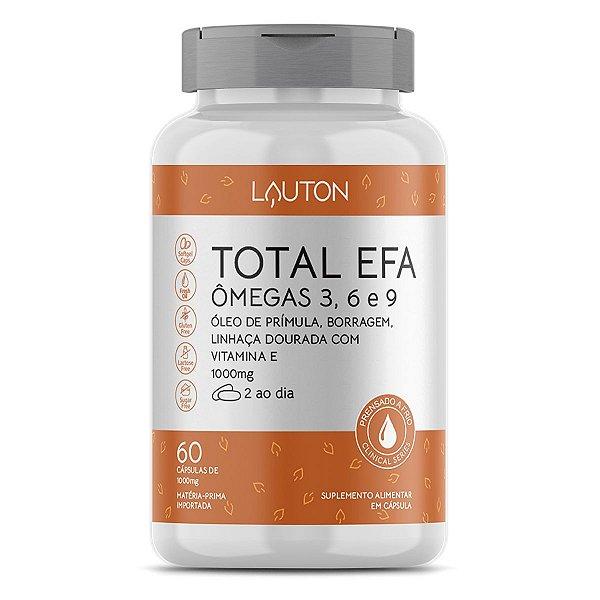 Total EFA Ômegas 3, 6 e 9 - Pote de 60 cápsulas