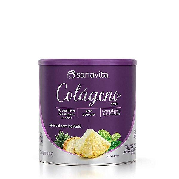 Colágeno Skin Sabor Abacaxi Com Hortelã 300g